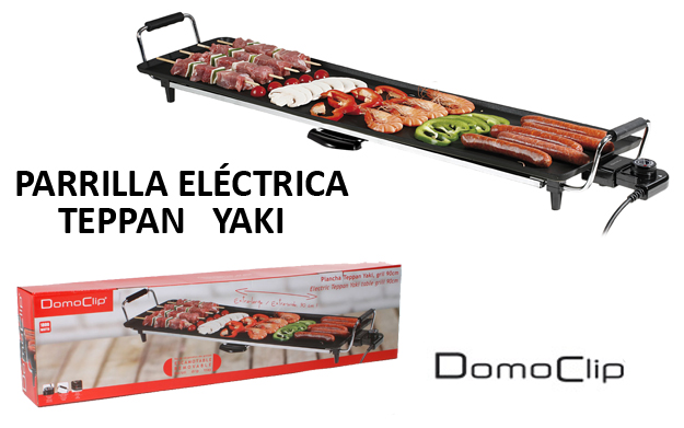 Parrilla el ctrica teppan yaki domoclip por for Parrilla electrica para casa