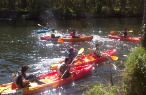 Aventura en kayak por el río Ladra