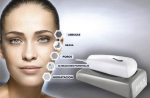 Cura facial exprés y visualización con cámara de alta tecnología para diagnóstico facial