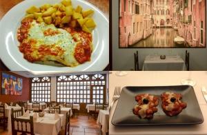 Delicioso menú italiano con postre y bebida