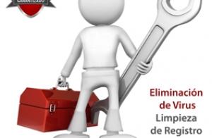 Eliminación de virus, limpieza de registro. Análisis e instalación de antivirus