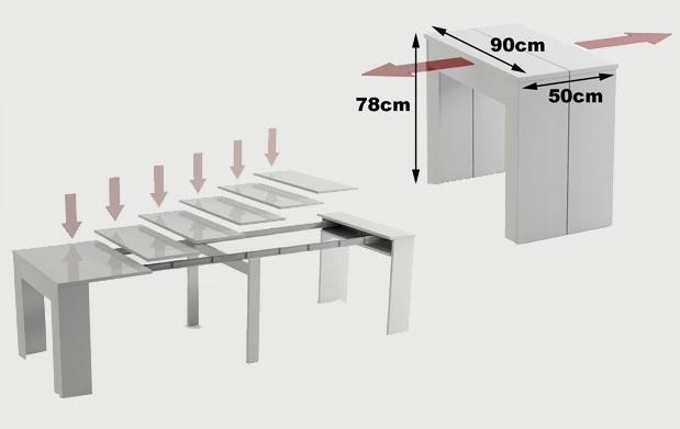Mesa auxiliar extensible hasta 10 comensales descuento - Mesa auxiliar extensible ...
