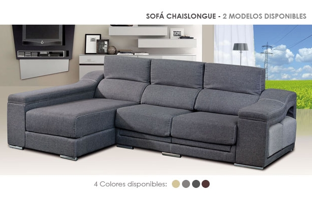 Sof chaise longue 4 colores disponibles por 729 - Sofas baratos en pontevedra ...